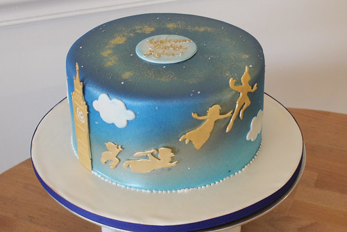 Single Tier Peter Pan Silhouette Cake