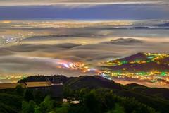武岫農圃 (張麗芬) Tags: taiwan 南投縣 鹿谷鄉 大崙山 茶園 風景 夕陽 夜景 琉璃光 雲海 天空