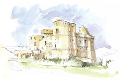 Clisson, Loire-Atlantique, France (Linda Vanysacker - Van den Mooter) Tags: 2017 clisson loireatlantique france watercolor watercolour visiblytalented vanysacker vandenmooter tekening sketch schets potlood pencil lindavanysackervandenmooter lindavandenmooter drawing dessin croquis crayon art aquarelle aquarell aquarel akvarell acuarela acquerello kasteel château castle manoir frankrijk