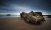 The Rock & The Rock (ianbrodie1) Tags: seacliffe beach rock bass scotland sea seascape water ocean sand huge sky cloud lighthouse long exposure