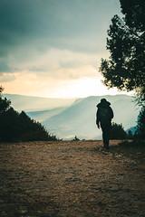 A man walking (Edylaras) Tags: tavertet osona panta de sau catalunya catalunyaexperience catalannature nature landscape valley stunning mountains lake cielo montaña paisaje hierba bosque campo árbol