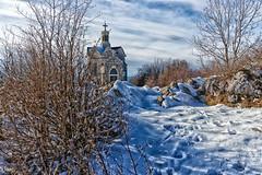 Curienne_Chapelle du Mont Saint Michel (895 M) - Savoie (gerardcarron) Tags: arbres canon80d church ciel curienne cloud eglise hiver landscape massifbauges mountains montagne neige oiseaux savoie sky snow winter