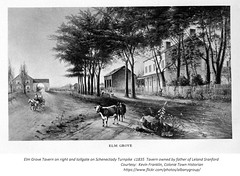 Elm Grove Inn and Tollgate just outside the albany city line  on  the Schenectady Turnpike (central ave)  circa 1835 (albany group archive) Tags: 1830s old albany ny vintage photos picture photo photograph history historic historical jmtodo