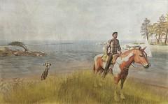 Caught On Canvas - The Horseman Cometh (ᗷOOᑎᕮ ᗷᒪᗩᑎᑕO) Tags: sl secondlife soul2soul horse canvas sea coast cornish cornwall devon sand sky clouds trees grass wildlife