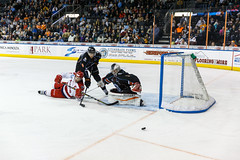 "Kansas City Mavericks vs. Allen Americans, February 24, 2018, Silverstein Eye Centers Arena, Independence, Missouri.  Photo: © John Howe / Howe Creative Photography, all rights reserved 2018 • <a style=""font-size:0.8em;"" href=""http://www.flickr.com/photos/134016632@N02/39605112195/"" target=""_blank"">View on Flickr</a>"