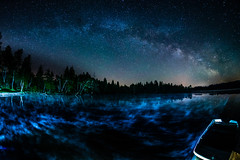 Magic Encounter (*Capture the Moment*) Tags: 2017 f28 fisheye kirchsee lakekirchsee milchstrasse milkyway reflection reflections reflexion sonya7m2 sonya7mii sonya7ii sonyilce7m2 walimexpro