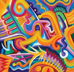 Fice Star Tiki Lord (MattCrux) Tags: psychedelic lsdtrip acid abstract trippy colorful rainbow lsd strange weird drug drugs weed high trip love acrylic painting acrylicpainting traditional canvas paint painted artist drawing illustration art arts expressive different beautiful artsy creativity creative
