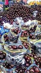 Cherries Forever (Lisa's Random Photos) Tags: cherries cherry fresh freshmarket sanfrancisco california fishermanswharf seaside food fruit freshfruit red juice