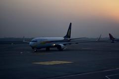 VT-JGV (Debatra) Tags: boeing igia indiragandhiinternationalairport del delhi newdelhi jet jetairways india airport taxiway taxi flight plane aeroplane airplane sky skyporn evening sunset vtjgv 737 73785r boeing737 9w808