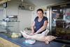 Preparing the pig at the butcher in Trogir, Croatia (Tim van Woensel) Tags: pig butcher croatia trogir local market tržnica travel lady woman salt spices splitdalmatia europe