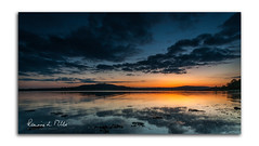 Afterglow (RonnieLMills 5 Million Views. Thank You All :)) Tags: sunset scrabo tower strangford lough high tide reflections afterglow genesis newtownards county down northern ireland waterscape monument landmark