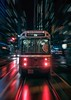 Full speed on 504 (reinaroundtheglobe) Tags: toronto ontario canada streetphotography motion speed tram transport transportation nightshot nightphotography reflections streetreflections illuminated