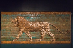 Glazed tile lion from the processional entrance to the Ishtar Gate of Babylon (Mark Kaletka) Tags: orientalinstitutemuseum universityofchicago chicago illinois unitedstates us ancient middleeast carving statue assyrian museum artifact egyptian sumerian stone persian tablet