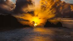 Sunshine - waves #2 (Enio Godoy - www.picturecumlux.com.br) Tags: sunshine 16x9 sunset nature bluesea canon doubleexposure sea bluesky beach g15 analogefexpro2 brazil zooming sky fernandodenoronha viveza21317283812243093 paradise canong15 niksoftware day