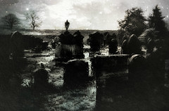 Astres Lugubres des Tombeaux (Bill Eiffert) Tags: sadness darkness death light stars graves headstones