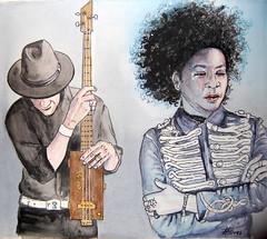 Kat & Co (pepefarres ilustraciones) Tags: acuarela retrato músics ilustración