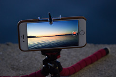 Just Timelapsing... (xarkef) Tags: iphone smartphone timelapse tripod sunset sea autumn inception
