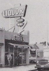 Jerry's Liquor Store - Sign by Electrical Products Corporation, Los Angeles - 1959 (hmdavid) Tags: electricalproductscorporation epco losangeles vintage sign roadside advertising liquor store liquors arrow 1950s 1959 signsofthetimes magazine jerrys neon