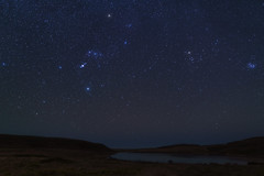 Orion, Taurus and the Pleiades (fksr) Tags: abbotslagoon pointreyesnationalseashore night stars sky constellation orion taurus pleiades betelgeuse rigel aldebaran orionnebula m42 landscape marincounty california astrometrydotnet:id=nova2454568 astrometrydotnet:status=solved