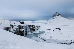 Kirkjufellfoss (rjonsen) Tags: iceland kyrkjufell kyrkjufellfoss snæfell snaefell peninsula winter light gloomy cloudy snow ice cold