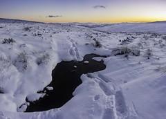 Snowshoe Trail (Scotland's Mountains) Tags: snoeshoesss snowshoeing snowshoes scotland highlands winter powder sunset dusk