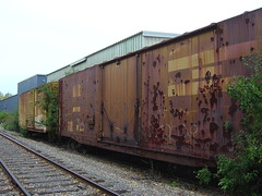 GBW 23004 and its partner in rust (AndyWS formerly_WisconsinSkies) Tags: railroad railway railfan boxcar rollingstock greenbayandwestern gbw abandoned
