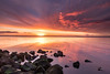 Mesmerising sunrise! (karindebruin) Tags: thenetherlands nederland goereeoverflakkee zuidholland ouddorp grevelingen grevelingenmeer stones rocks stenen zonsopkomst sunrise mesmerizing