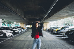 (Kevin .H) Tags: 台灣 台北 攝影 外拍 人像 女孩 taiwan taipei girl photography canon 5d2 5dii 35mm film 光影 street city car bridge f14 f18 portrait