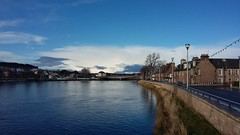 River Ness, Inverness, Jan 2018 (allanmaciver) Tags: river ness inverness scotland highlands colours bridge shades vlues water reflections clouds white chilly january walk enjoy allanmaciver