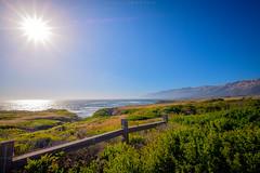 California sun (dannygreyton) Tags: usa california highway1 coast mountains fujifilmxt2 fujifilm ocean sea sunset sun sunshine