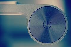 Monochrome Power (j h somebody) Tags: macromonday macromondays monochrome apple keyboard wireless sony alpha design metal aluminum mac onoff power