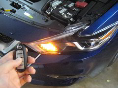 2016-2018 Nissan Maxima Intelligent Key Fob Remote Control - Testing After Changing Dead Battery (paul79uf) Tags: 2016 2017 2018 nissan maxima sports sedan smart intelligent proximity key fob battery coin cell weak dead change changing replace replacing replacement guide how diy tutorial instructions steps part number como hacer cambiar pila bateria 8th eighth gen generation service shop manual directions