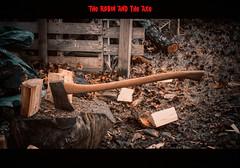 The robin and the axe (dusk_rider) Tags: bird robin axe chop wood logs garden february dusk rider nikon d7200 nikkor 60mm f28d
