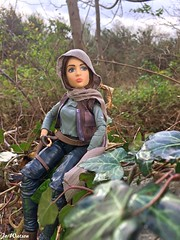 Contemplating the next move (JoeyDee83) Tags: star wars hasbro doll vinyl toy action figure geek nature green woodlands tree