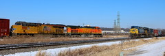 BNSF 5039, UP 8060, CSX 371, 3463, Stroebe, Fox Crossing, 14 Feb 2018 (kkaf) Tags: stroebe foxcrossing a446 a447 bnsf up csx ac4400cw et44ah c449w es44ac
