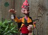 amanita mushroom pixie (Valentina Bruschi) Tags: botton yellow moss fairytale forast nature poison toadstool amanitamuscaria dot white red freckles redeyes polymerclay ooakdoll handmade pixie