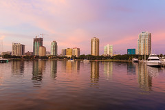 St Petersburg Skyline From Vinoy Park (Photomatt28) Tags: florida stpetersburg sunrise