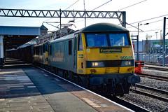 90046 + 90047 - Nuneaton - 16/02/18. (TRphotography04) Tags: freightliner 90046 90047 speed through nuneaton with 4s44 1213 daventry int rft recep fl coatbridge flt