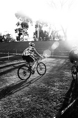 000103350004 (Harry Toumbos Photo) Tags: 35mm film kodak tmax 400 pushed 1600 canon f1 fd 24mm f28 ssc cycling melbourne cyclocross black white contrast