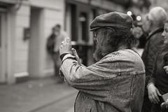 Man Taking Pictures (Hattifnattar) Tags: people man pictures taking ireland galway pentax fa77mm limited bw monochrome bokeh street
