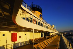 Lines (petrk747) Tags: image photo ship costadiadema lines sunset sky heaven blue yellow travelling travellingbyship outdoor nikon
