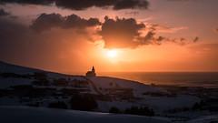 Sunrise in Vik - Iceland - Landscape photography (Giuseppe Milo (www.pixael.com)) Tags: photo landscape church nature city cityscape snow iceland clouds travel outdoor photography vik sky rocks sunrise europe geotagged ice vík southernregion is onsale portfolio