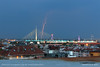 20170806-2009 (srkirad) Tags: lightning lightnings bridge adabridge beograd belgrade serbia srbija dusk evening cloudy stormy buildings roofs city town travel
