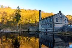 Gibson mill 9554.jpg (BarrySmith1950) Tags: old mill victorian water reflections golden pond windows chimney nikonflickeraward