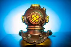 Dive Helmet 11/365 (stevemolder) Tags: mark dive helmet 365 project off camera lighting aqua maritime nautical underwater blue yellow
