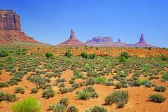 Perfect scene for a Western, Arizona/Utah border, USA (Andrey Sulitskiy) Tags: usa arizona utah monumentvalley