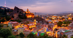 Tbilisi, Georgia (Travel Center UK) Tags: georgia city oldtown old town architecture culture arts scenes tbilisi asia europe tree colours evening sunset light hill cliff cloud travel travelling photooftheday photography landscapephoto travelphoto travelcenteruk travelcenter church cathedral