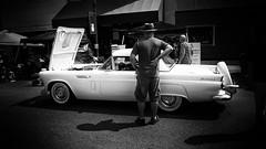 Eyeballing the Beauty (alhawley) Tags: american bw usa blackandwhite candid everytownusa fordthunderbird monochrome photoessay ricoh ricohgrii street streetphotography