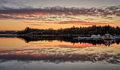 Førresfjorden, Norway (Vest der ute) Tags: g7xll g7xm2 norway rogaland sea seascape water landscape reflections mirror trees tree boat boats clouds sky quay winter outdoor fav25 fav200