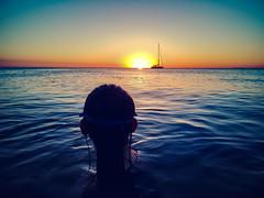 Jade's View (RP Major) Tags: jade daughter brighton beach sail sun sunset water bay melbourne huawei p10